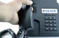 Telefono per una chiamata d'emergenza Fotografie Stock Libere da Diritti