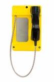Telefono pubblico giallo fotografie stock libere da diritti