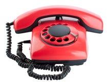 Telefono rosso Fotografia Stock