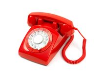 Telefono rosso Fotografia Stock Libera da Diritti