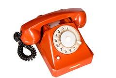 Telefono rosso Immagini Stock