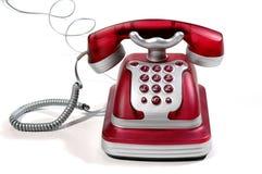 Telefono rosso 4 Fotografia Stock Libera da Diritti