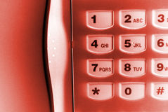 Telefono rosso Immagine Stock