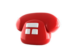 Telefono rosso illustrazione vettoriale