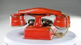 Telefono rosso del giocattolo video d archivio