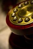 Telefono rosso dell'annata Immagine Stock