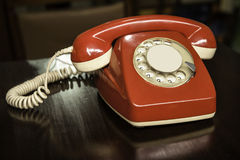 Telefono rosso dell'annata Immagini Stock Libere da Diritti