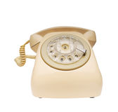 Telefono rosso dell'annata Fotografie Stock