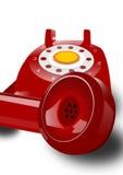 Telefono rosso isolato Fotografie Stock Libere da Diritti