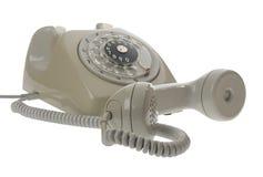 Telefono rotativo di stile della vecchia annata - microtelefono fuori fotografia stock