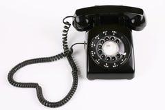 Telefono rotativo nero Fotografie Stock
