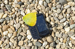 Telefono rotto fotografia stock libera da diritti