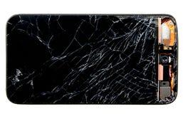 Telefono rotto delle cellule Fotografia Stock Libera da Diritti