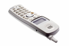 Telefono senza cordone bianco Fotografie Stock