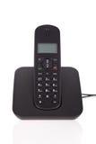 Telefono senza cordone nero Fotografia Stock Libera da Diritti