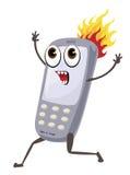Telefono su fuoco Royalty Illustrazione gratis