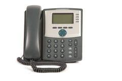 Telefono su priorità bassa bianca Fotografia Stock Libera da Diritti