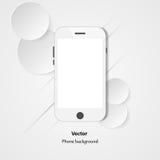 Telefono su un fondo bianco, illustrazione Fotografie Stock