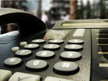Telefono in una barra di hotel Fotografia Stock Libera da Diritti