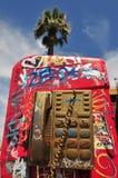 Telefono urbano dell'Arizona dei graffiti fotografia stock libera da diritti