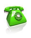 Telefono verde Immagini Stock