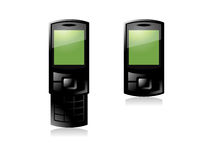 Telefono verde delle cellule Fotografia Stock