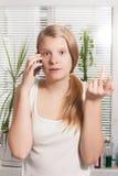 Telefonowanie dziewczyna Fotografia Stock
