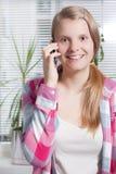 Telefonowanie dziewczyna Zdjęcie Stock