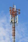 Telefonpol med klar blå himmel Royaltyfri Bild