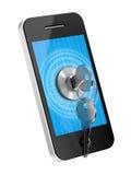 Telefonsäkerhet Stock Illustrationer