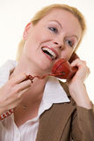 telefonsamtal royaltyfria bilder