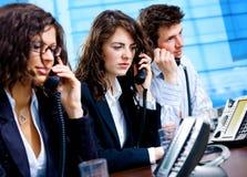 Telefonstützinformationsstelle Lizenzfreies Stockfoto