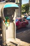 Telefonstiefel in Bangkok, Thailand Stockbild