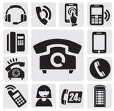 Telefonsymboler Arkivbild
