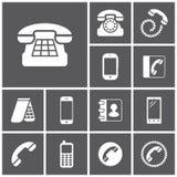 Telefonsymboler Vektor Illustrationer