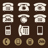 Telefonsymbolsvektor Royaltyfri Bild