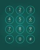 Telefontangentbord Royaltyfri Fotografi