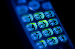 Telefontastaturzahlen und -buchstaben stockbilder