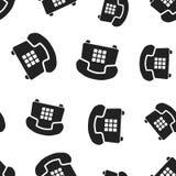 Telefonu bezszwowy deseniowy tło Biznesowy płaski wektorowy illustra Obrazy Royalty Free