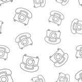 Telefonu bezszwowy deseniowy tło Biznesowy płaski wektorowy illustra Obraz Stock