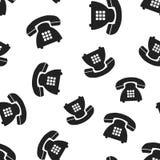 Telefonu bezszwowy deseniowy tło Biznesowy płaski wektorowy illustra Zdjęcie Stock