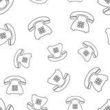 Telefonu bezszwowy deseniowy tło Biznesowy płaski wektorowy illustra Zdjęcia Royalty Free