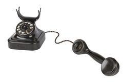 telefonu czarny rocznik Fotografia Royalty Free
