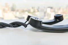 Telefonu handset linii spirala obraz royalty free