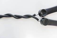 Telefonu handset linii spirala zdjęcia royalty free