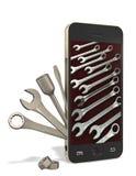 Telefonu i ławki narzędzia Obrazy Stock