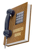 Telefonu i notes na adresy pojęcie - 3D Obrazy Royalty Free