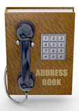 Telefonu i notes na adresy pojęcie - 3D Zdjęcia Stock