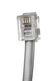 Telefonu kabel odizolowywający Fotografia Stock