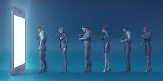 Telefonu Komórkowego nałóg ilustracji